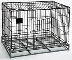 Black Vinyl Coated Wire Mesh Containers, Pet Cages