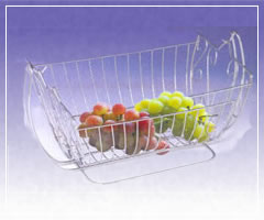 Wire Mesh Baskets with Handles
