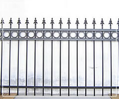 welded steel fence